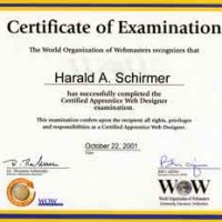 Certificate World of Webmasters