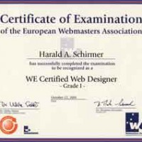 Certificate Webmasters Europe