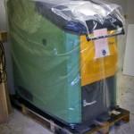 Die HDG- Holzheizung wird geliefert