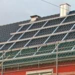 Photovoltaik Gestell ist montiert