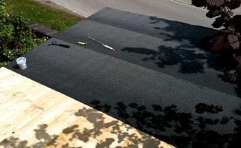 Carport Bitumenbahnen