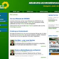 Screenshot neue Webseite der Grünen ND