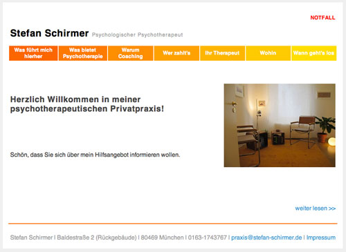 Screenshot Webseite Stefan Schirmer