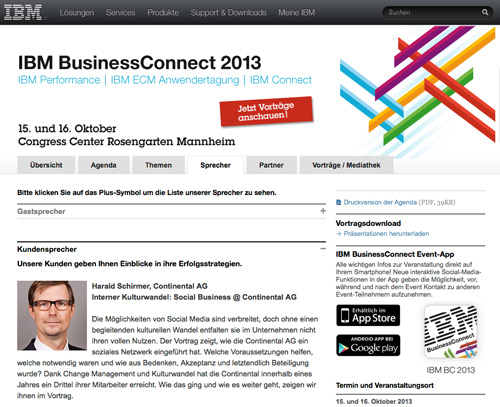 Business Connect 2013 - Harald Schirmer