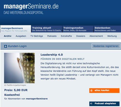 ManagerSeminare Digitale Führung