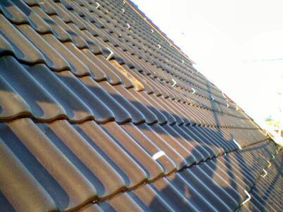 Fertig montierte Solargestell-Haken