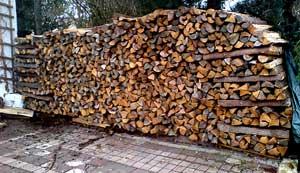 Brennholz Meterscheite