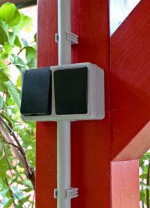 Carport Schalter und Steckdosen