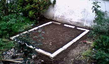 Fundament am ersten Standort