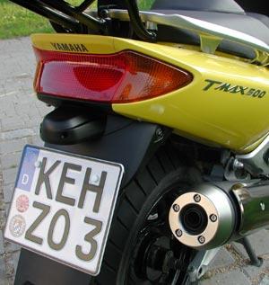 TMAX500 Rückansicht