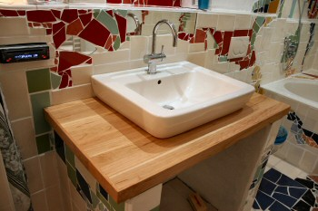 Waschbecken Tisch