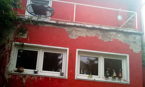 Putz und Terrassenaufbau entfernen
