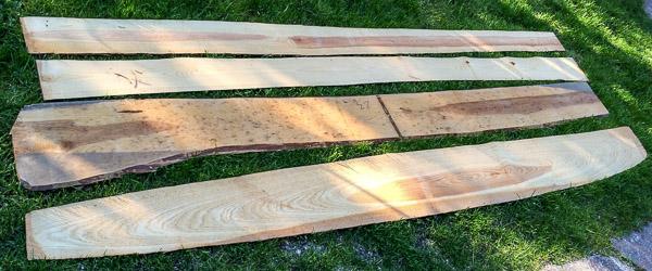 Grundmaterial Holz sägerau