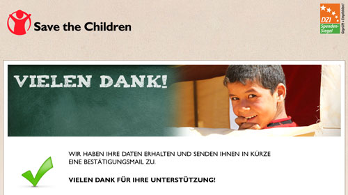 Spende SaveTheChildren