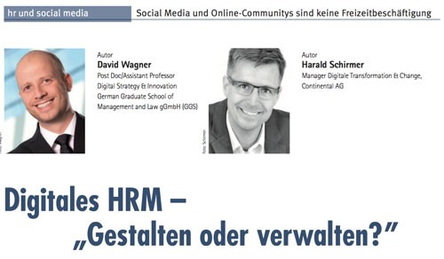 Digitales HRM - Gestalten oder Verwalten?