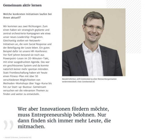 Ausschnitt HAUFE Interview Schirmer/Continental
